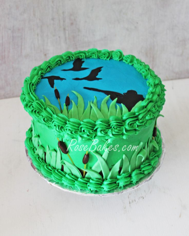 Duck Hunting Cake ~ Rose Bakes