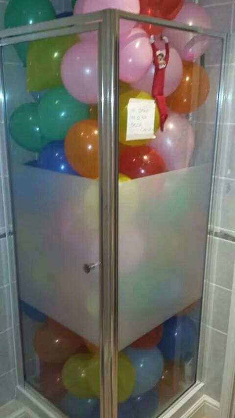 Elf in the shower
