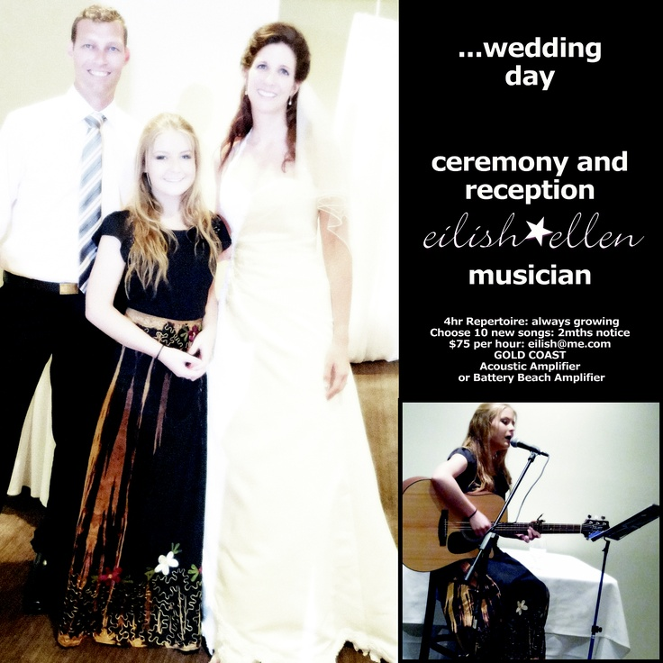 Gold Coast Weddings. Pint sized Wedding Singer on the Gold Coast., Currumbin. Huge repertoire. Acoustic Guitar/self accompanied. Can do Beach Weddings with battery powered amp. enquiries: bookings@eilishellen.com