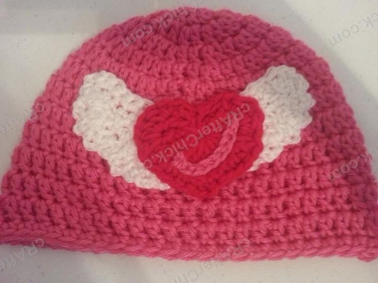 Free Crochet Heart Hat Pattern : Jordans Pink Angels Beanie Hat Crochet Pattern - free ...