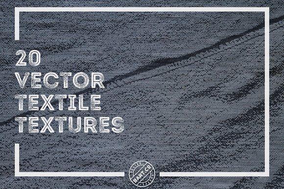 20 Vector Textile Textures by BART.Co Design on @creativemarket