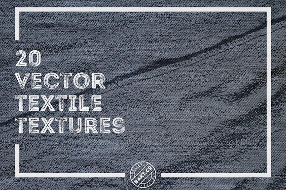 20 Vector Textile Textures by BART.Co Design on @creativemarket