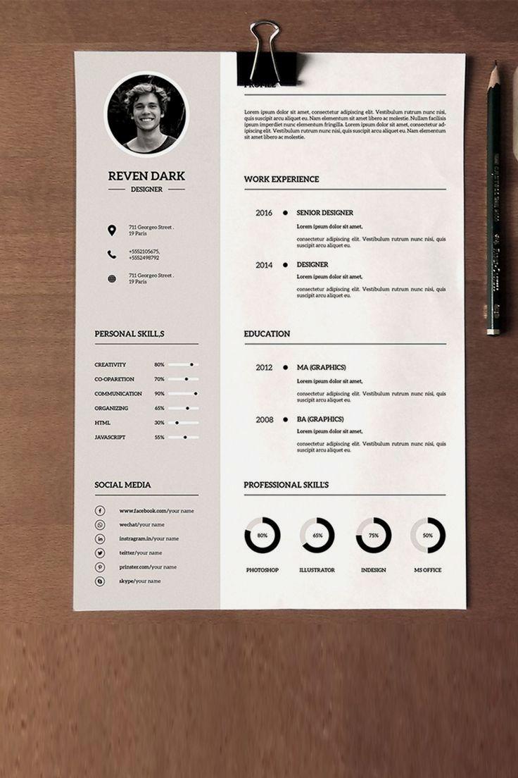 Clean Minimal Resume Template Cv Kreatif Desain Resume Desain Cv