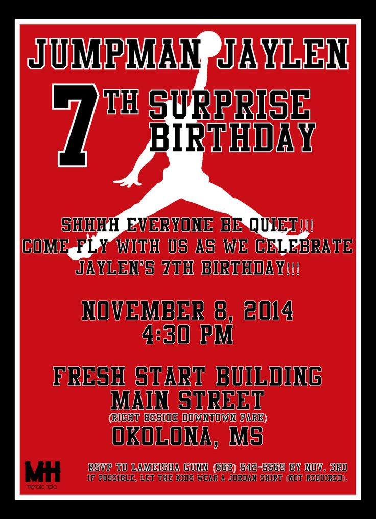 13 best CJays 10th Birthday images – Michael Jordan Birthday Invitations