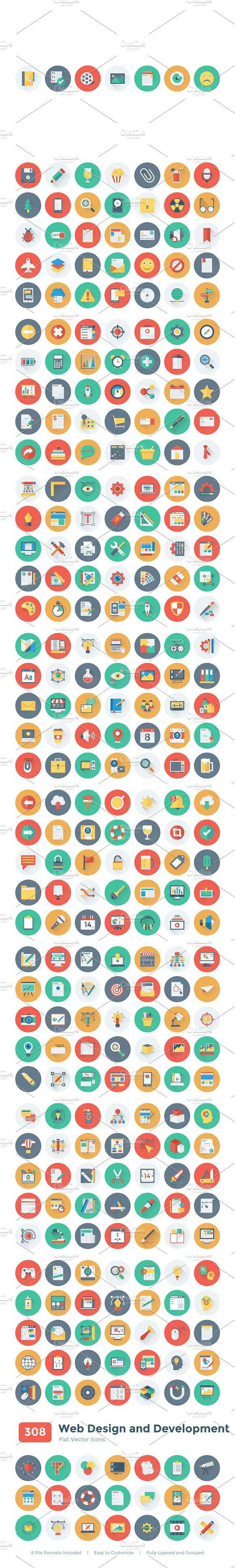 308 Web Design and Development Icons #webicons