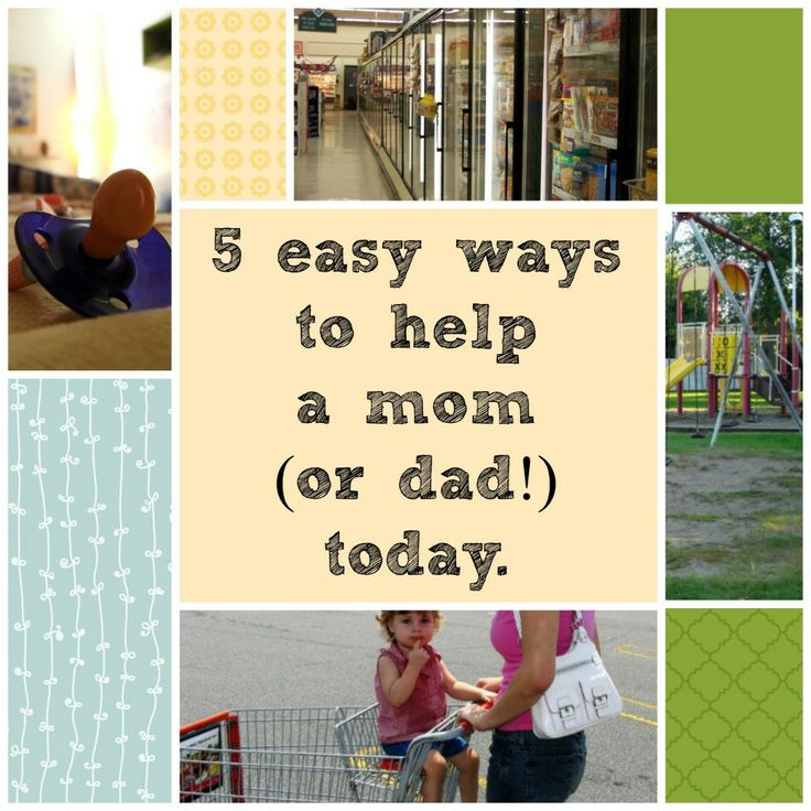 How to help a mom or dad. #Spon