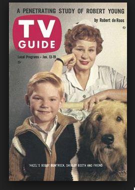 TV Guide 1962 Hazel TV Comedy Show (cover) Harold, Hazel and Smiley the Airedale Mix  https://www.youtube.com/watch?v=b0HNUAunNFo&list=PLA2-u6ofVDMPeOmS3HfQS-QKFPDkKi91-
