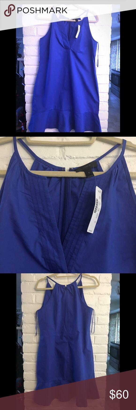 J. Crew Women's Flutter-hem Dress Cobalt Blue Sundress, Size 8 J. Crew Dresses