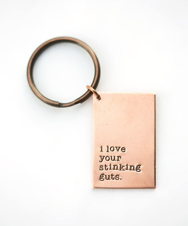 Copper 'I Love Your Stinking Guts' Key Chain Charm by FIVE #zulily #zulilyfinds