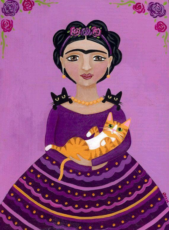 Frida y gatos
