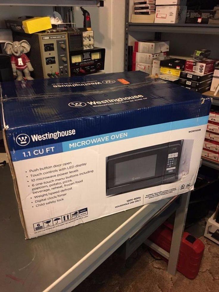 Westinghouse WCM11100B 1000 Watt Microwave Oven, 1.1 Cubic Feet, Black #Westinghouse