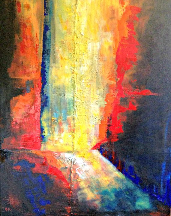 Original textured modernabstract oil on acrylic by ITsARTbySNOWBEE