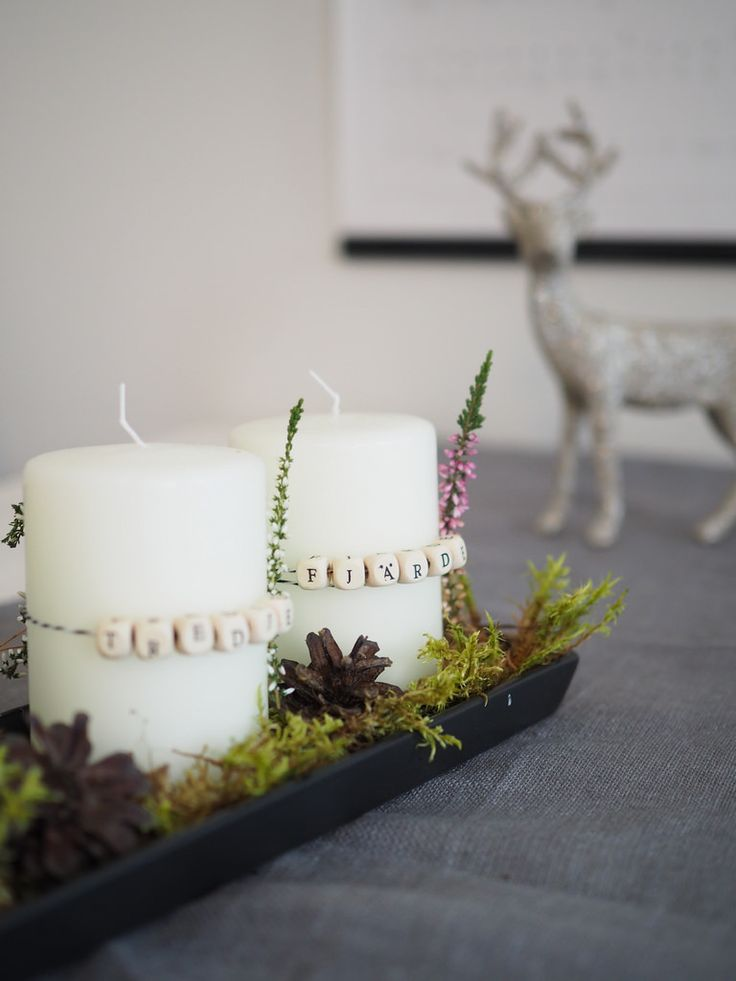 DIY Advent candles / Adventtikynttilät