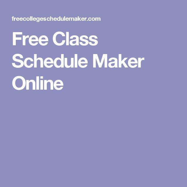 25+ best Schedule maker ideas on Pinterest