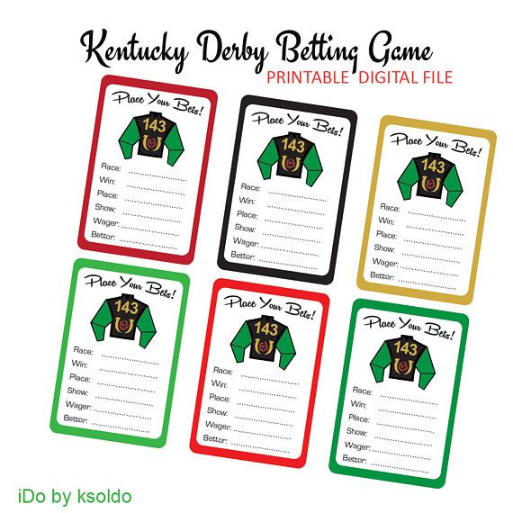 Terrible image for kentucky derby games printable