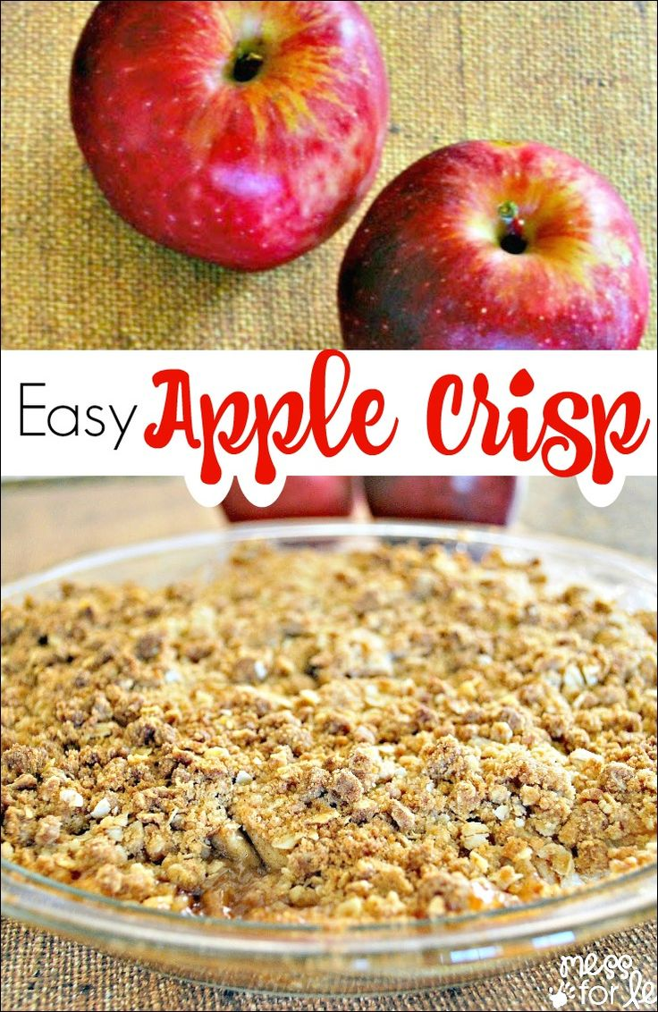 Easy Apple Crisp - This simple apple crisp recipe will wow your family and taste…