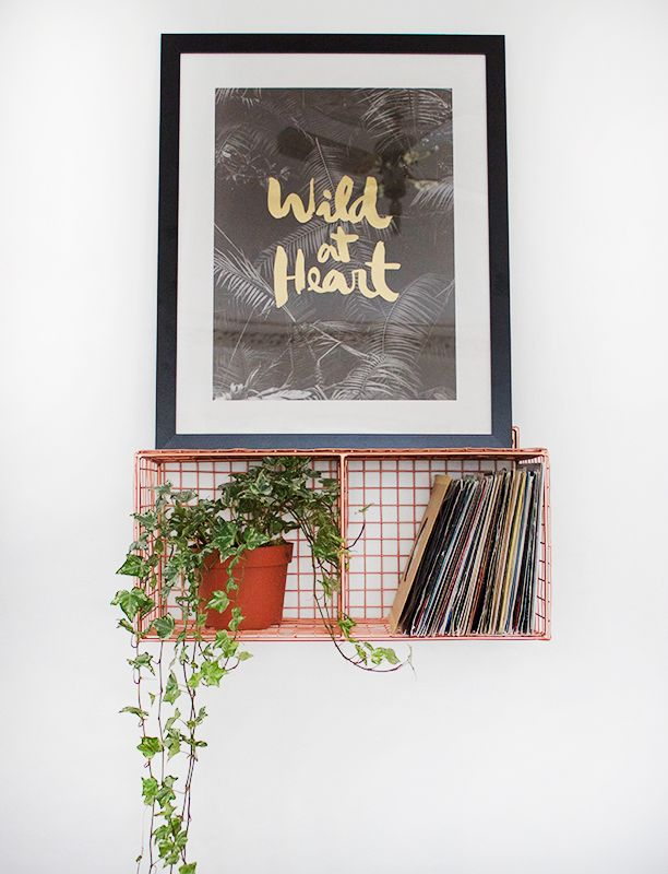 Not fussed about the word art, but I like the basket shelf, it goes quite nicely with the trailing plant!