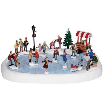 Lemax Harvest Crossing Sights & Sounds: Skating Pond Set of 18 #94048   Lemax Christmas Village Collectibles   Lemax Harvest Crossing Collectibles   Lemax Sights And Sounds   Christmas Villages - American Sale