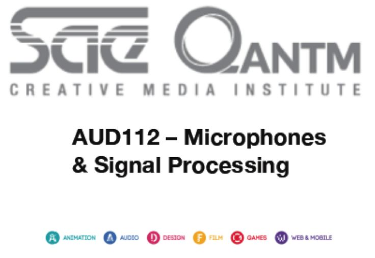 AUD112 - Microphones & Signal Processing cover