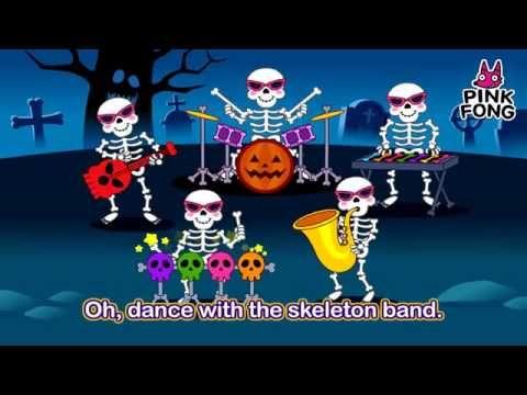 Five Bony Skeletons | Halloween Kids Song | Nursery Rhymes - YouTube