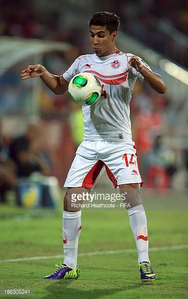 Nidhal Ben Salem of Tunisia during the FIFA U17 World Cup UAE 2013 round of 16 match between Argentina and Tunisia at the Rashid Stadium on October...