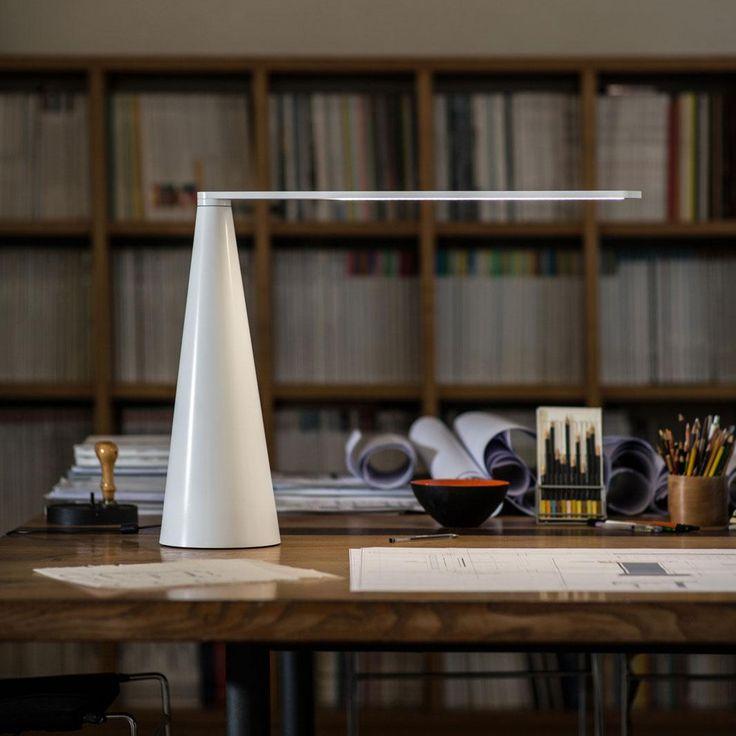 ELICA - Lampe de bureau LED Blanc H52cm Martinelli Luce