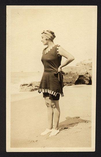 Victoria Ocampo en Mar del Plata, en 1927.