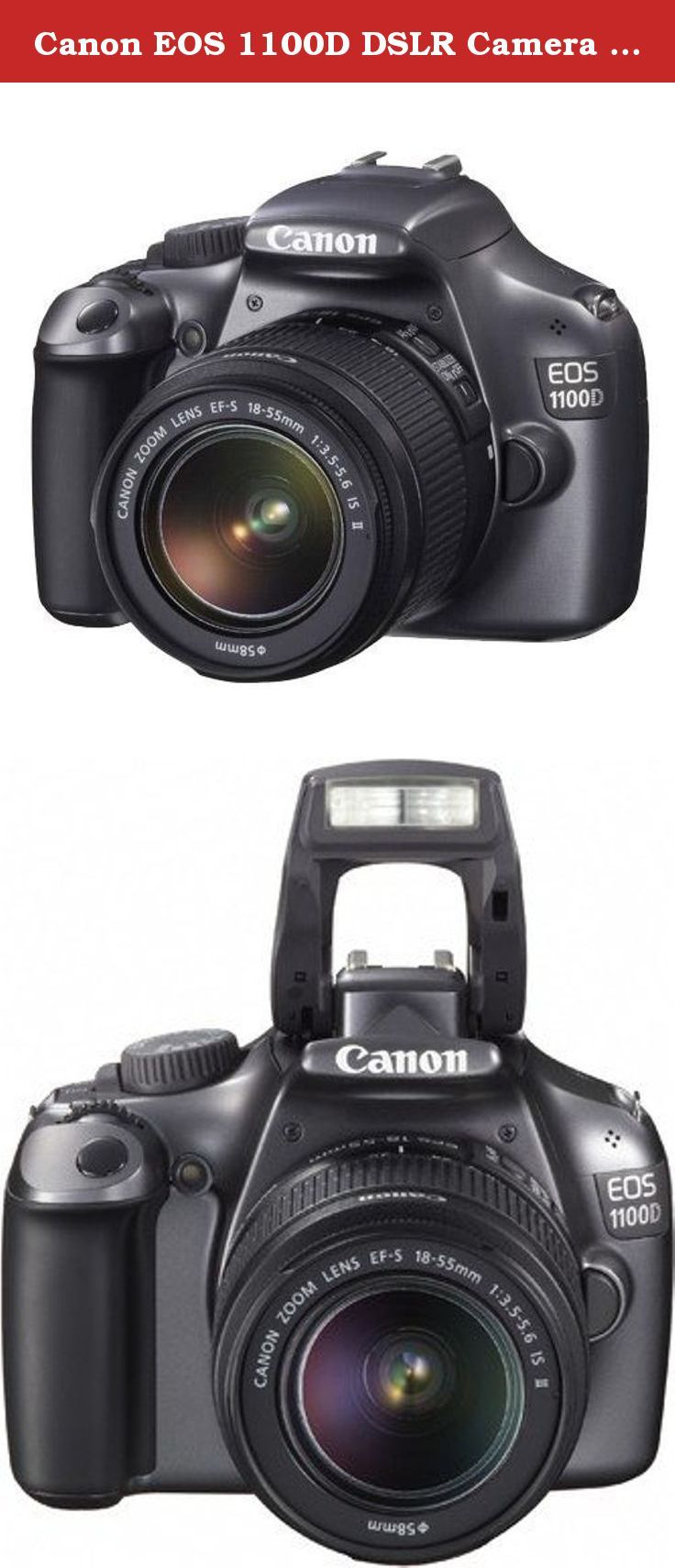 Canon EOS 1100D DSLR Camera and 18-55mm IS II Lens Kit (Gray). About this Camera: The Canon EOS 1100D (also known as the Digital Rebel T3) is the new entry-level model in Canon's extensive range of digital SLR cameras, replacing the 3 year old 1000D model. Aimed at first-time DSLR users, the 1100D inherits features from both the equally new and more expensive EOS 600D and the previous 1000D. It has a 12 megapixel CMOS sensor, 2.7 inch LCD screen, 3fps continuous shooting mode, 9 autofocus...