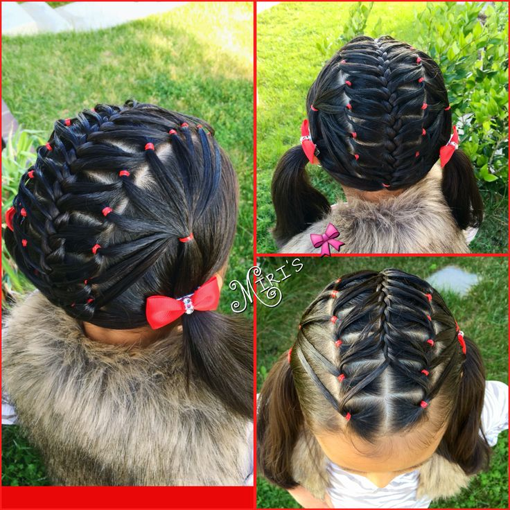 Hair style for little girls with elastics
