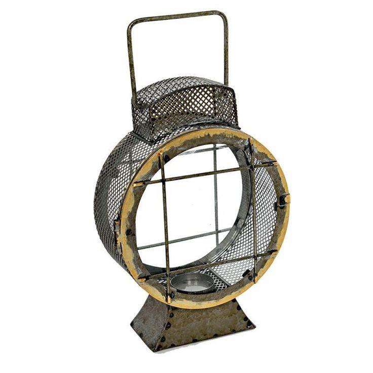 Φανάρι μεταλλικό μπρονζέ στρογγυλό με γυαλί 20Χ8Χ29 cm Διακοσμήστε το σπίτι σας με φανάριααπό το Casa di Regali και δώστε του ένα ιδιαίτερο στυλ!