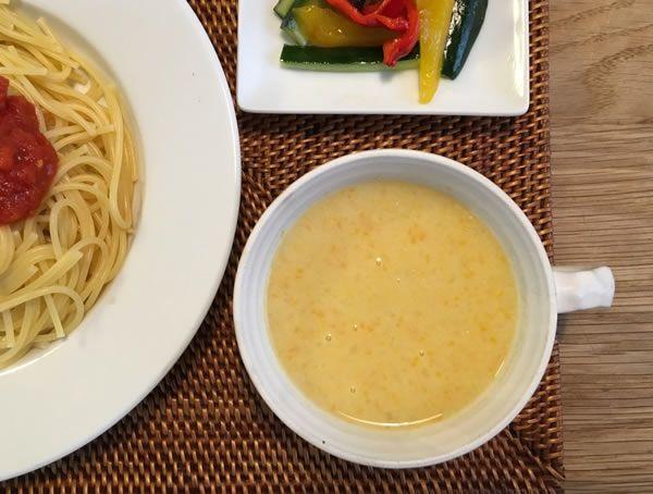 バーミックスで野菜スープ:スタッフ会議:フライパン倶楽部