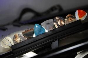 High quality gemstone guitar picks and bass picks