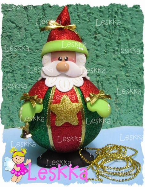Leskka - Arte em e.v.a: Magia do natal!