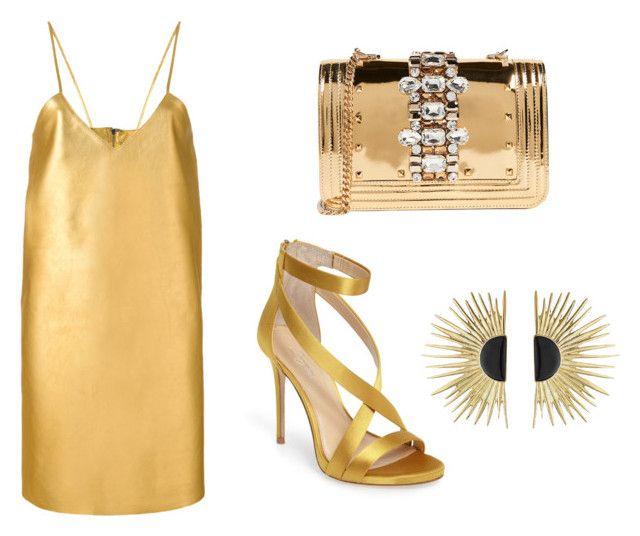 """""""Gold"""" by charlene-subbarayan on Polyvore featuring Manokhi, GEDEBE, Imagine by Vince Camuto and Aurélie Bidermann"""