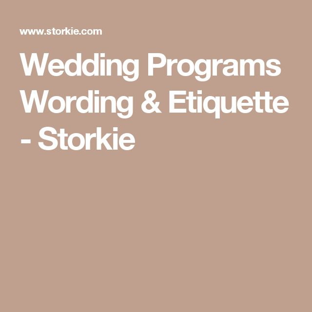 Best  Wedding Program Etiquette Ideas On   Wedding