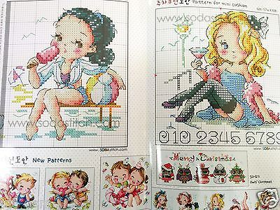 Pin up Girl - Cross stitch pattern book. Big Chart. SODAstitch SO-G70