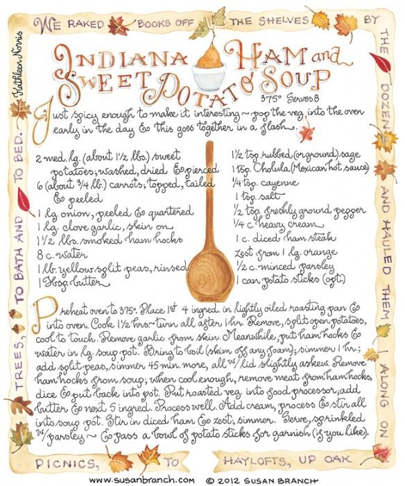 Indiana Ham and Sweet Potato Soup - Susan Branch
