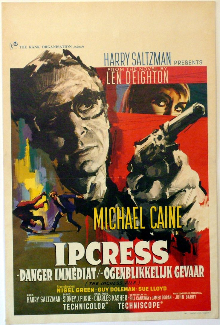 The Ipcress File, starring Michael Caine, Nigel Green, Guy Doleman, Gordon Jackson and Sue Lloyd, 1965