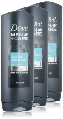Dove Men and Care Body and Face Wash, Clean Comfort, 18 Ounce (Pack of 3) by Dove, http://www.amazon.com/dp/B002TSA916/ref=cm_sw_r_pi_dp_94hPrb0P90GFX