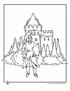 Knight Coloring Page In Shining ArmorKnightsPage