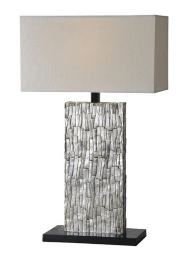 The body of the santa fe lamp is rich and refined with its aged silver leafing