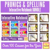 First Grade Phonics and Spelling Interactive Notebook BUNDLE