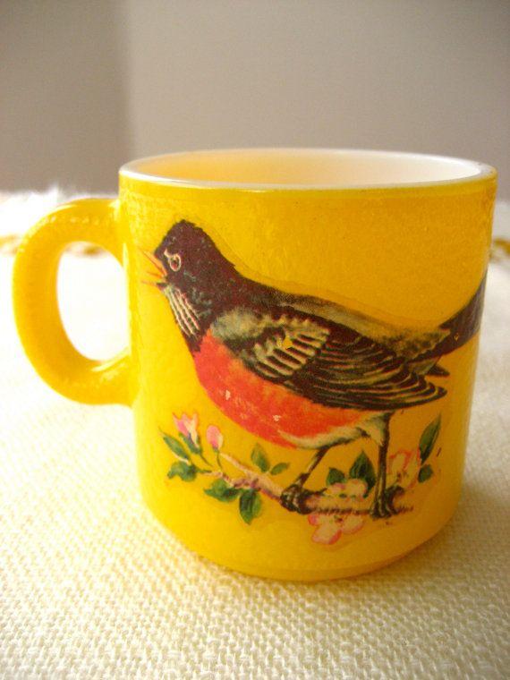 Vintage Yellow Robin Mug!! Here comes springtime!!!