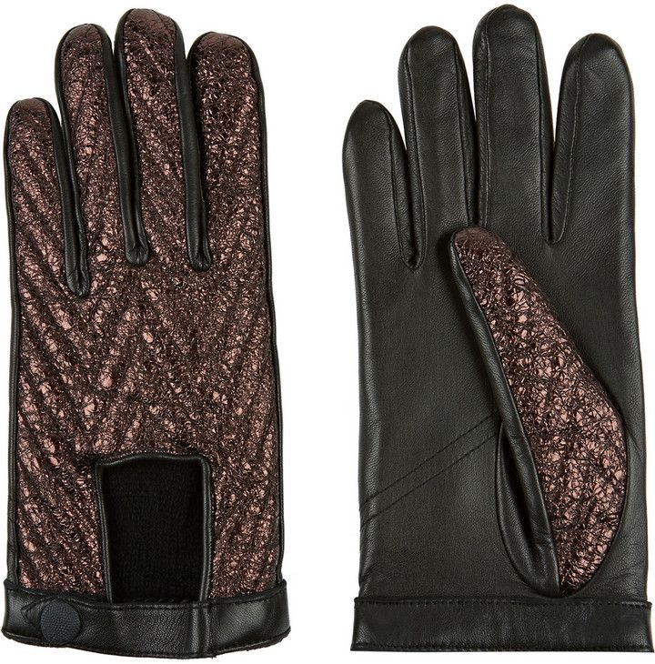 Rag & bone Paneled leather gloves