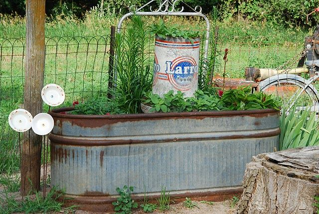 stole my idea! :) I'm going to turn the horses' old leaky trough into a herb garden, one of my many projects.