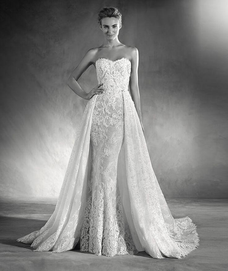Edith - Robe de mariée à décolleté en cœur de Pronovias