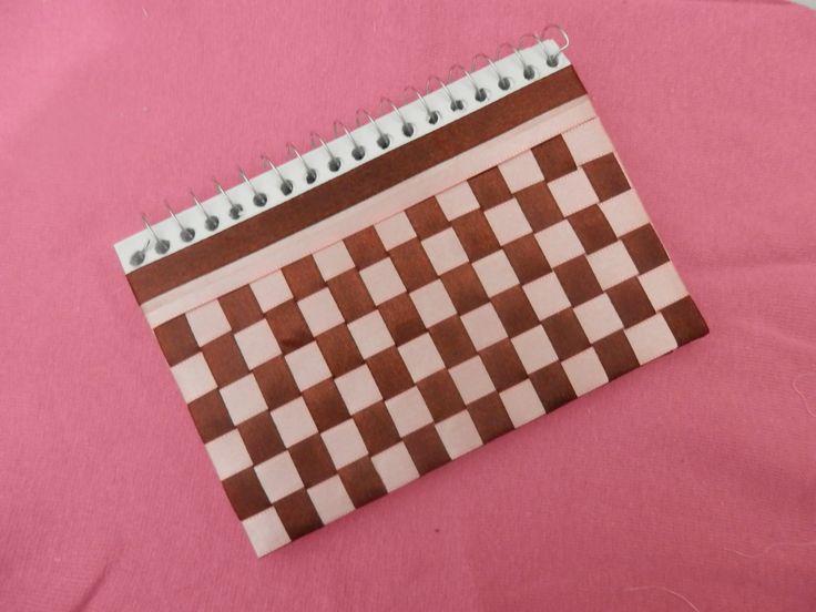 Capa de trançado de fita - Caderno spiral