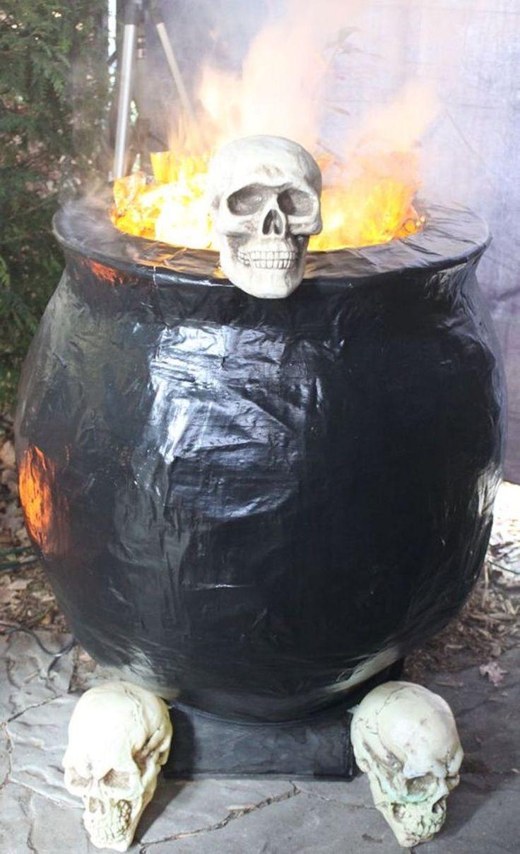 Bricolage d'Halloween chaudron