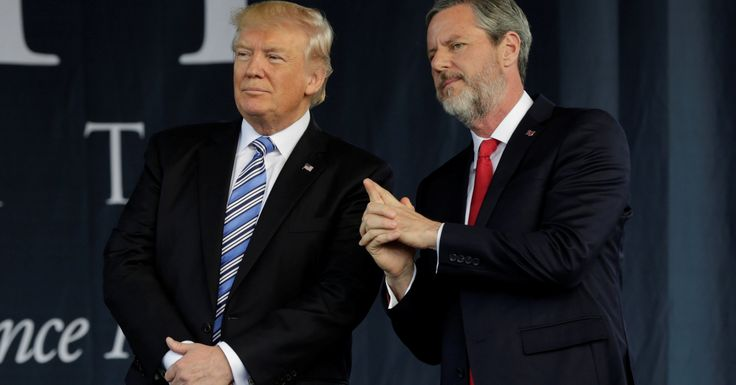 The protest follows LU President Jerry Falwell Jr. praising Trump's remarks on the Charlottesville violence.