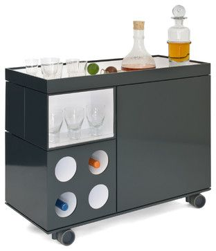 Modern Bar Cart | Box-Cart - contemporary - bar carts - kansas city - by FORWARD Design ...